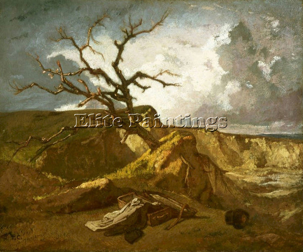 THOMAS COUTURE LANDSCAPE NEAR THE SEA ARTIST PAINTING REPRODUCTION HANDMADE OIL