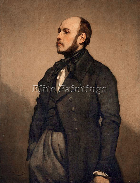 THOMAS COUTURE PORTRAIT ARTIST PAINTING REPRODUCTION HANDMADE CANVAS REPRO WALL