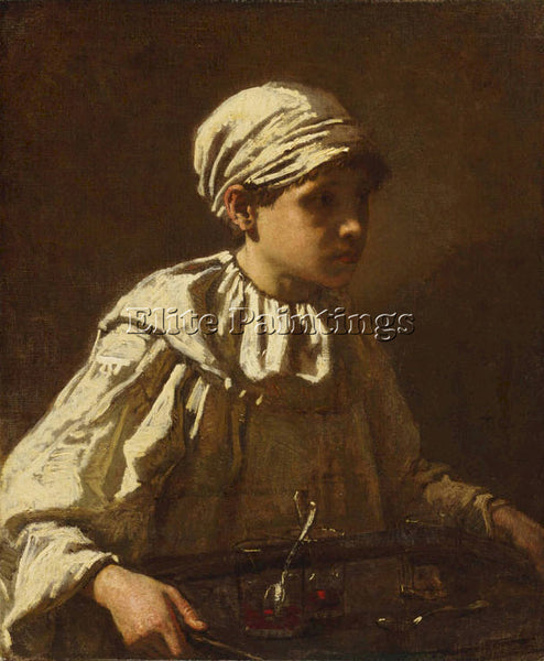 THOMAS COUTURE THE LITTLE CONFECTIONER ARTIST PAINTING REPRODUCTION HANDMADE OIL