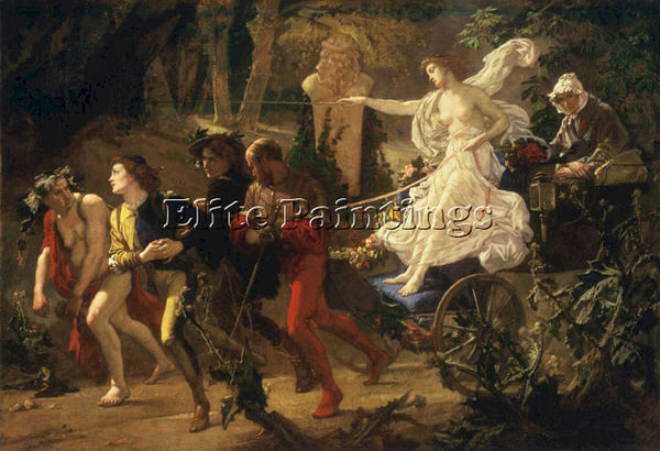 THOMAS COUTURE THORNY PATH ARTIST PAINTING REPRODUCTION HANDMADE OIL CANVAS DECO