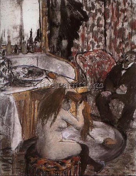 EDGAR DEGAS WOMAN COMBING HAIR ARTIST PAINTING REPRODUCTION HANDMADE OIL CANVAS