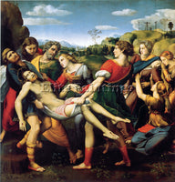 RAFFAELLO DEPOSIZIONE ARTIST PAINTING REPRODUCTION HANDMADE OIL CANVAS REPRO ART