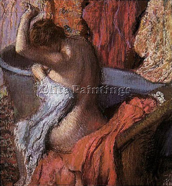 EDGAR DEGAS LA SORTIE DU BAIN ARTIST PAINTING REPRODUCTION HANDMADE CANVAS REPRO