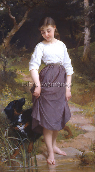 EMILE MUNIER A3752 ESSAI DE LEAU ARTIST PAINTING REPRODUCTION HANDMADE OIL REPRO