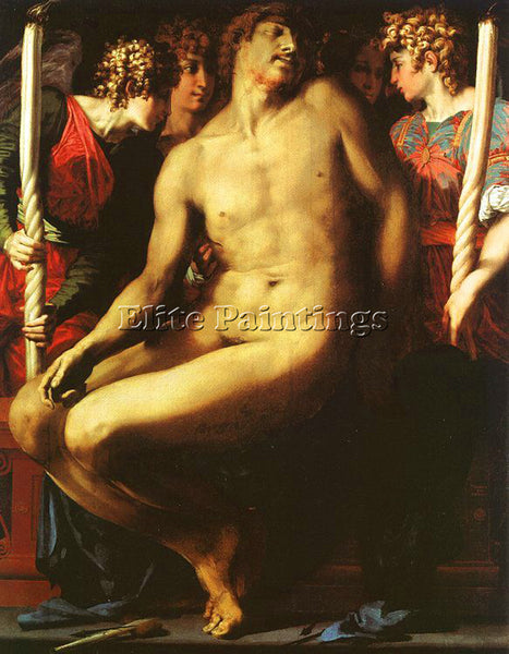 ROSSO FIORENTINO FIORE2 ARTIST PAINTING REPRODUCTION HANDMADE CANVAS REPRO WALL