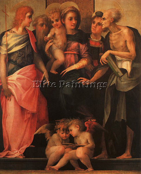 ROSSO FIORENTINO FIORE6 ARTIST PAINTING REPRODUCTION HANDMADE CANVAS REPRO WALL