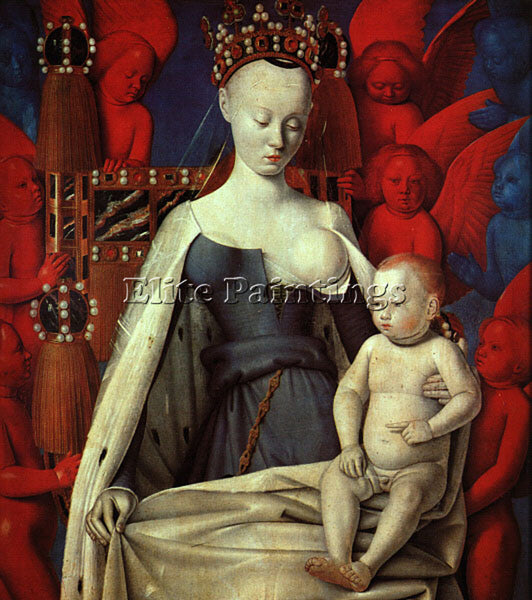 JEAN FOUQUET FOUQ4 ARTIST PAINTING REPRODUCTION HANDMADE CANVAS REPRO WALL DECO