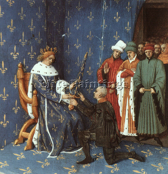JEAN FOUQUET FOUQ6 ARTIST PAINTING REPRODUCTION HANDMADE CANVAS REPRO WALL DECO