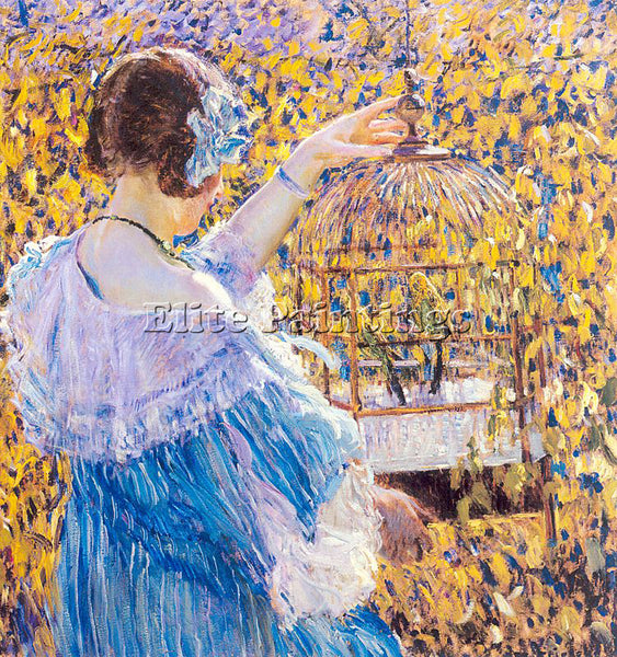 FRIESEKE FREDERICK CARL FRED2 ARTIST PAINTING REPRODUCTION HANDMADE CANVAS REPRO