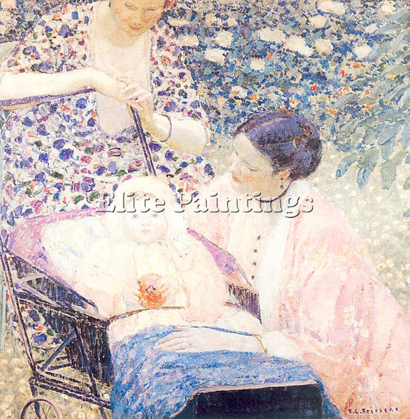 FRIESEKE FREDERICK CARL FRED11 ARTIST PAINTING REPRODUCTION HANDMADE OIL CANVAS