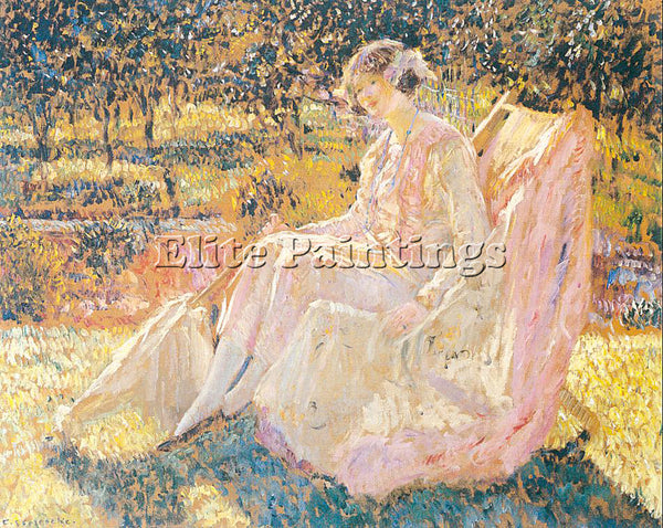 FRIESEKE FREDERICK CARL FRED14 ARTIST PAINTING REPRODUCTION HANDMADE OIL CANVAS