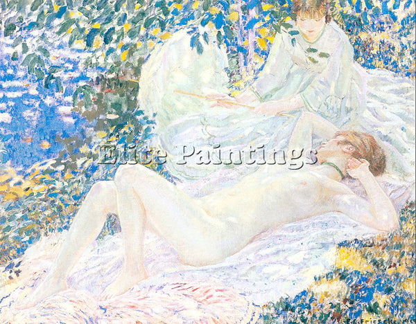 FRIESEKE FREDERICK CARL FRED16 ARTIST PAINTING REPRODUCTION HANDMADE OIL CANVAS