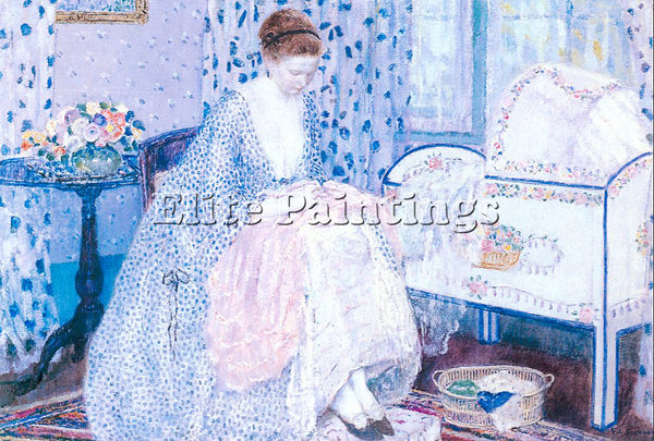 FRIESEKE FREDERICK CARL FRED19 ARTIST PAINTING REPRODUCTION HANDMADE OIL CANVAS