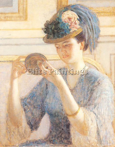 FRIESEKE FREDERICK CARL FRED35 ARTIST PAINTING REPRODUCTION HANDMADE OIL CANVAS