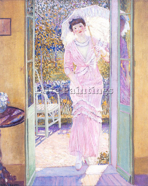 FRIESEKE FREDERICK CARL FRED37 ARTIST PAINTING REPRODUCTION HANDMADE OIL CANVAS
