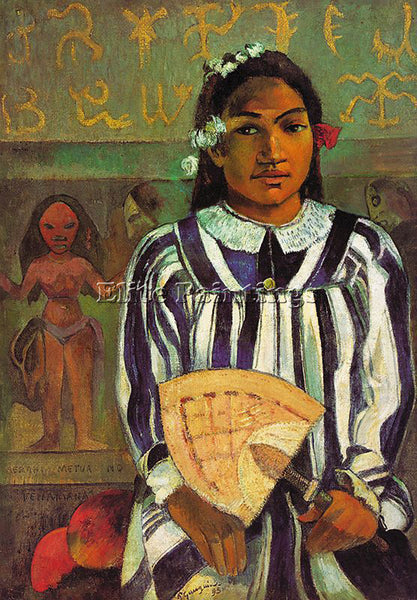 PAUL GAUGUIN GAUG4 ARTIST PAINTING REPRODUCTION HANDMADE CANVAS REPRO WALL DECO