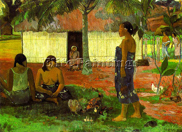 PAUL GAUGUIN GAUG5 ARTIST PAINTING REPRODUCTION HANDMADE CANVAS REPRO WALL DECO