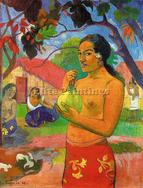 PAUL GAUGUIN GAUG32 ARTIST PAINTING REPRODUCTION HANDMADE CANVAS REPRO WALL DECO