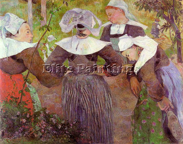 PAUL GAUGUIN GAUG33 ARTIST PAINTING REPRODUCTION HANDMADE CANVAS REPRO WALL DECO