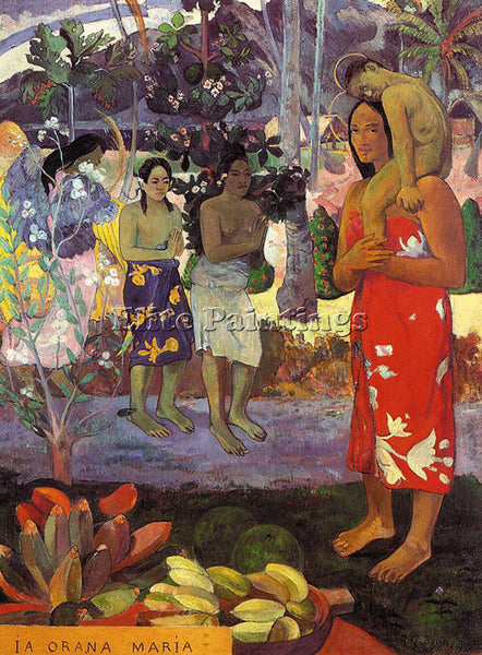 PAUL GAUGUIN GAUG39 ARTIST PAINTING REPRODUCTION HANDMADE CANVAS REPRO WALL DECO