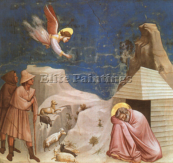 GIOTTO GIOTTO14 ARTIST PAINTING REPRODUCTION HANDMADE CANVAS REPRO WALL  DECO