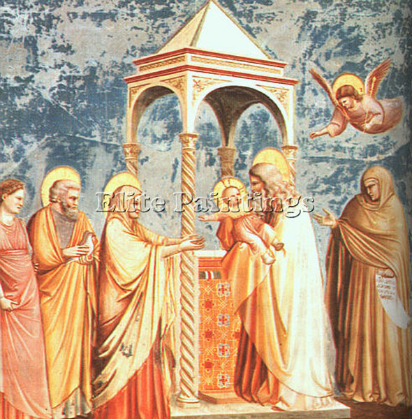GIOTTO GIOTTO16 ARTIST PAINTING REPRODUCTION HANDMADE CANVAS REPRO WALL  DECO
