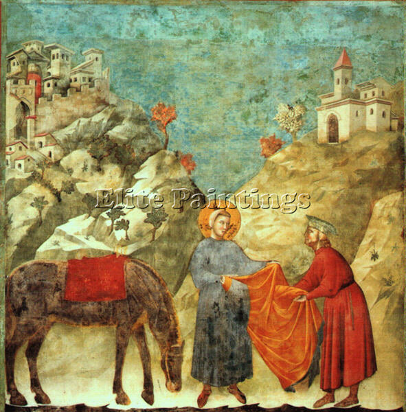 GIOTTO GIOTTO1 ARTIST PAINTING REPRODUCTION HANDMADE OIL CANVAS REPRO WALL  DECO