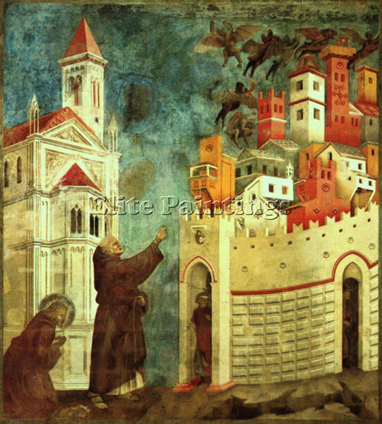 GIOTTO GIOTTO2 ARTIST PAINTING REPRODUCTION HANDMADE OIL CANVAS REPRO WALL  DECO