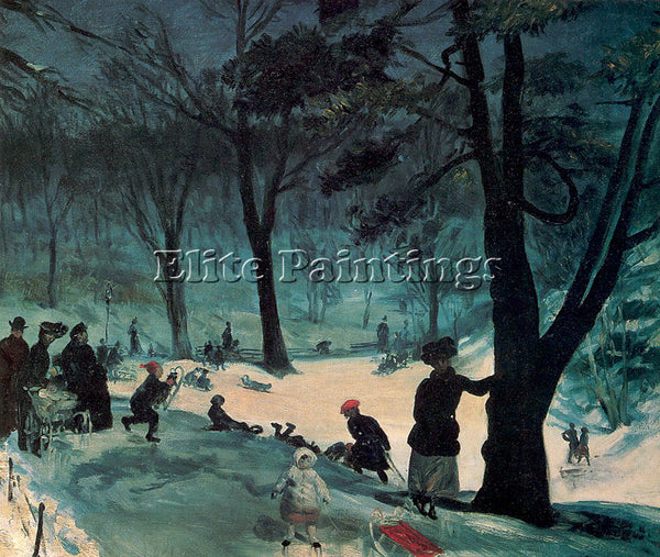 WILLIAM JAMES GLACKENS GLACK6 ARTIST PAINTING REPRODUCTION HANDMADE CANVAS REPRO