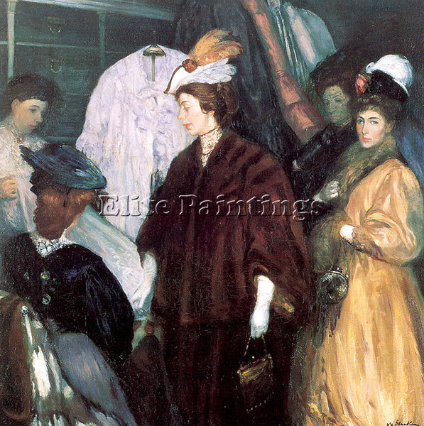 WILLIAM JAMES GLACKENS GLACK10 ARTIST PAINTING REPRODUCTION HANDMADE OIL CANVAS