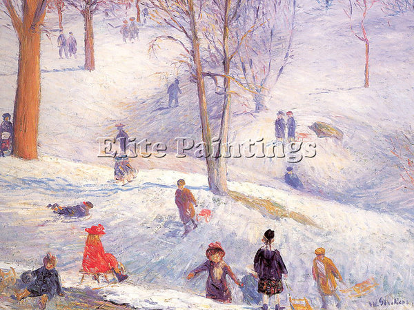 WILLIAM JAMES GLACKENS GLACK15 ARTIST PAINTING REPRODUCTION HANDMADE OIL CANVAS