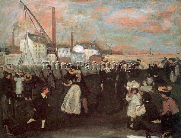 WILLIAM JAMES GLACKENS GLACK32 ARTIST PAINTING REPRODUCTION HANDMADE OIL CANVAS