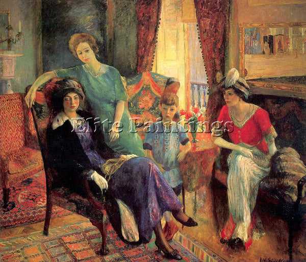 WILLIAM JAMES GLACKENS GLACK41 ARTIST PAINTING REPRODUCTION HANDMADE OIL CANVAS