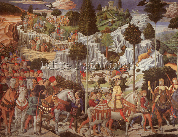 BENOZZO GOZZOLI GOZZ1 ARTIST PAINTING REPRODUCTION HANDMADE OIL CANVAS REPRO ART