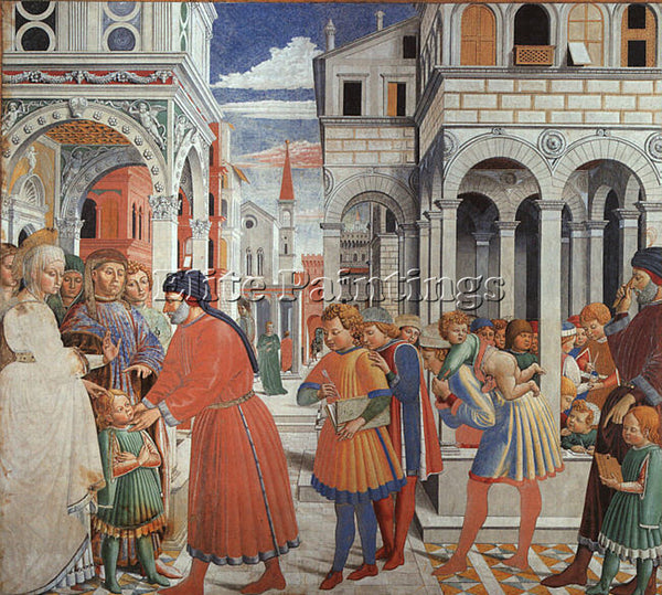 BENOZZO GOZZOLI GOZZ7 ARTIST PAINTING REPRODUCTION HANDMADE OIL CANVAS REPRO ART