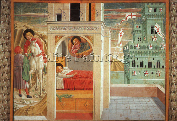 BENOZZO GOZZOLI GOZZ10 ARTIST PAINTING REPRODUCTION HANDMADE CANVAS REPRO WALL
