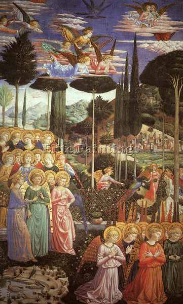 BENOZZO GOZZOLI GOZZ15 ARTIST PAINTING REPRODUCTION HANDMADE CANVAS REPRO WALL