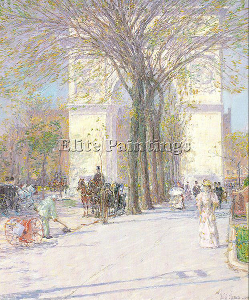 CHILDE HASSAM HASS12 ARTIST PAINTING REPRODUCTION HANDMADE OIL CANVAS REPRO WALL