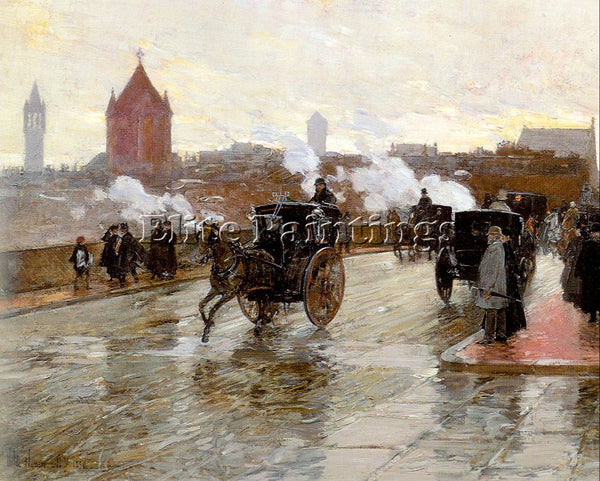 CHILDE HASSAM HASS16 ARTIST PAINTING REPRODUCTION HANDMADE OIL CANVAS REPRO WALL
