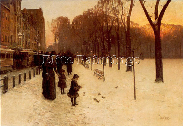 CHILDE HASSAM HASS31 ARTIST PAINTING REPRODUCTION HANDMADE OIL CANVAS REPRO WALL