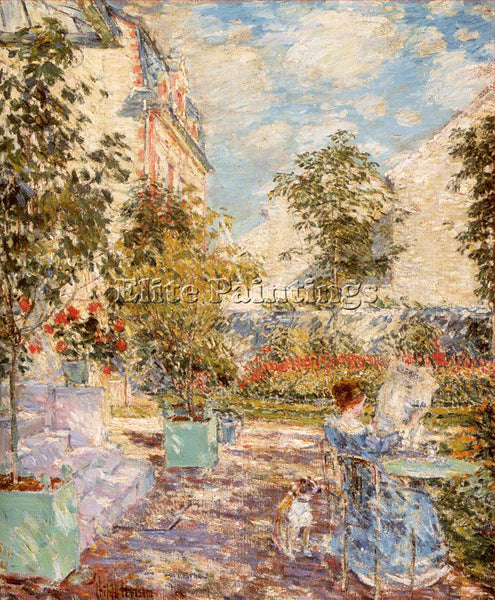 CHILDE HASSAM HASS32 ARTIST PAINTING REPRODUCTION HANDMADE OIL CANVAS REPRO WALL