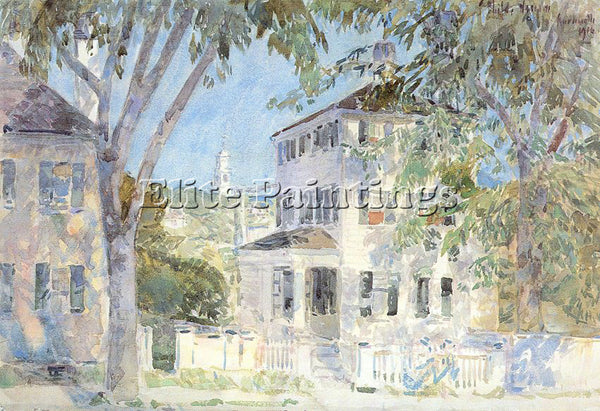 CHILDE HASSAM HASS43 ARTIST PAINTING REPRODUCTION HANDMADE OIL CANVAS REPRO WALL