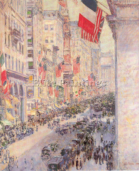 CHILDE HASSAM HASS44 ARTIST PAINTING REPRODUCTION HANDMADE OIL CANVAS REPRO WALL
