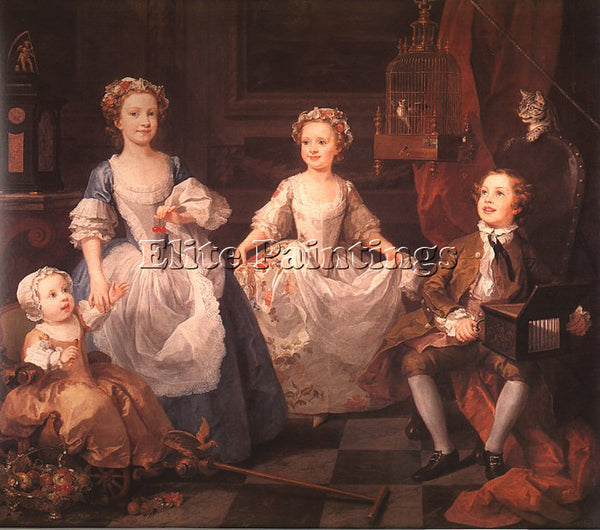 WILLIAM HOGARTH HOGA8 ARTIST PAINTING REPRODUCTION HANDMADE OIL CANVAS REPRO ART