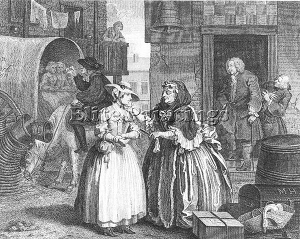 WILLIAM HOGARTH HOGA15 ARTIST PAINTING REPRODUCTION HANDMADE CANVAS REPRO WALL