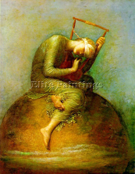 WATTS GEORGE FREDERICK HOPE ARTIST PAINTING REPRODUCTION HANDMADE OIL CANVAS ART
