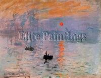 FAMOUS PAINTINGS IMPRESSION RISING SUN HI ARTIST PAINTING REPRODUCTION HANDMADE