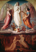 LOUIS JANMOT L ASSOMPTION DE LA VIERGE ARTIST PAINTING REPRODUCTION HANDMADE OIL