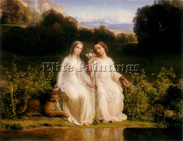 LOUIS JANMOT LE POEME DE L AME 11 VIRGINITAS ARTIST PAINTING HANDMADE OIL CANVAS