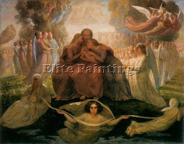 LOUIS JANMOT LE POEME DE L AME 1 GENERATION DIVINE ARTIST PAINTING REPRODUCTION